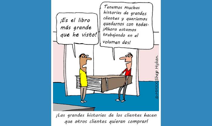 caricatura cuenta historia clientes blog wow